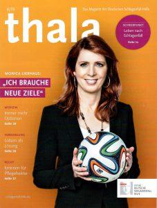 Titelbild Monika Lierhaus der Zeitschrift Thala mit dem Schwerpunktthema Leben nach Schlaganfall